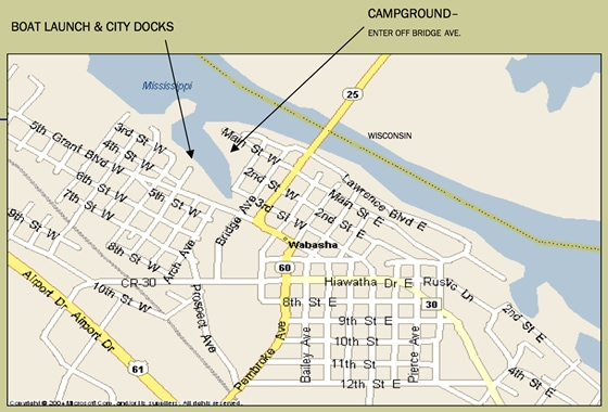 City of Wabasha Map